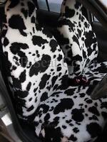 VAUXHALL ANTARA/ FRONTERA/ TIGRA CAR SEAT COVERS COW FAUX FUR - FULL SET