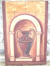 Peinture:toile peinte 80 x 120 cm nature morte:poterie,vase. Pas de livraison