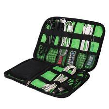 Black Cable Organizer Electronics Accessories Travel Bag USB Drive Bag & Kit