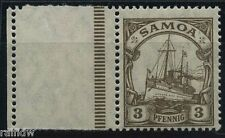 Samoa 3 Pfg. Yacht 1919** mit Leerfeld Attest (S8081)