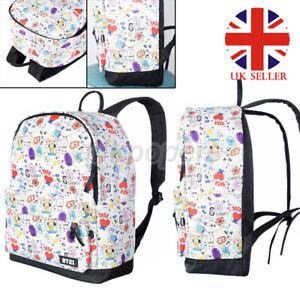 Bangtan Boys K-pop Backpack Suga V Satchel Schoolbag Jungkook Travel Bags UK