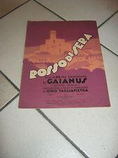 SPARTITO 1933,L.METLICOVITZ,RICORDI,G.TAGLIAPIETRA,GAIANUS,ROSSO DI SERA