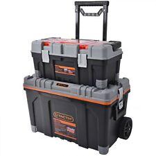 Tactix 2 en 1 Rolling Grand Heavy Duty Mobile Outil Boîte de rangement tour de poitrine sur roues