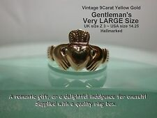 9 Carat Yellow Gold Claddagh Rings for Men