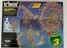K'NEX 3 in 1 Classic Amusement Park Building Set 744 pcs #17035 NEW Carnival Rid