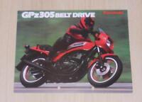 KAWASAKI GPz305 BELT DRIVE MOTORCYCLE Sales Brochure c1985 #P/N9943-1585