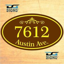 3002 Personalized Home Address Decorative Custom Plaque 12 x 7 Aluminum Sign