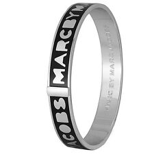 Marc By Marc Jacobs Logo Bangle Black m3pe609-80001 MSRP  $68