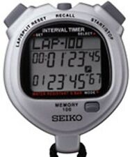 SEIKO S057 100-lap Stopwatch for Interval Training
