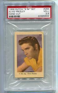 "1958 Dutch Gum Movie Cards ""X Nr"" Set 284 Elvis Presley PSA 3.5 NQ Music vintage"