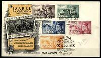 Sobre primer día de España 1951 V Centenario nacimiento Isabel la Católica SPD
