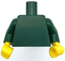 LEGO Neuf Vert Foncé Torse Uni Bras Jaune Mains Pièce