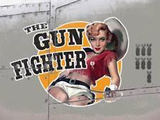 Gun Fighter Vintage War Aeroplane Classic Pin-up Large Metal/Steel Wall Sign