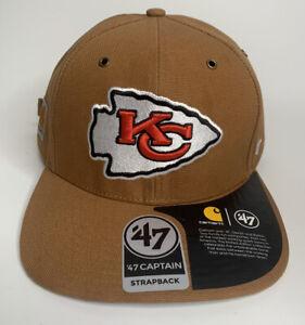 Carhartt x 47 Brand Kansas City Chiefs Captain Duck Canvas Strapback Hat