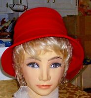 Fabulous Vintage RED Cloche Hat from the Angelina Joy Collection Smart & Stylish