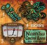 Steampunk Pack de Pegatinas, Time Viaje, Nautilus, Ocultismo,Oxidado,Octopus,