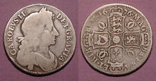 1676 KING CHARLES II SILVER HALF CROWN - R Over B Errors