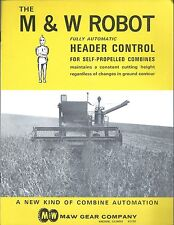 Farm Equipment Brochure - M&W - Robot Header Control for Combine - 1964 (F5018)