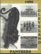 1980 Blount County Cleveland Alabama High School PANTHERS Football Souvenir book