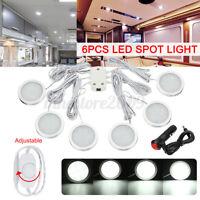 6pcs LED Projecteur Plafonnier Intérieur & Chargeur pour Caravane Camping Car