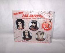Tokio Hotel - Fan-Haftpins-4 Stck. -NEU,OVP,RARITÄT,Lizenzware