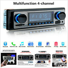 Remote 4-CH Output Car In-dash MP3 FM Stereo Radio Player USB/Mini-Card/AUX /BT