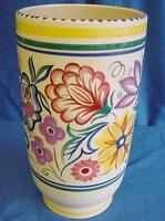 POOLE POTTERY ELABORATE CS PATTERN SHAPE 722 STRAIGHT SIDED VASE GWEN HASKINS