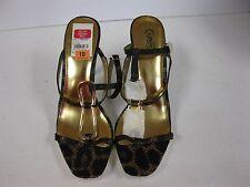 Carlos Santana Mercury platform sandal, natural leopard size10m
