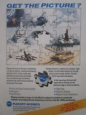2/1990 PUB PLESSEY AVIONICS AIRBORNE DEFENCE EW PUZZLE ASIAN AEROSPACE AD