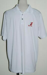 Mens Campus Specialties White Polo Alabama Crimson Roll Tide Shirt Large