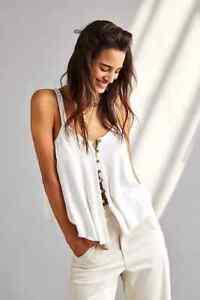 Free People Dream Weaver Ivory White Tank Vest Top Size XS BNWT RRP £40