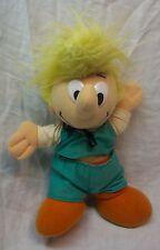 """Peyo Smurfs VINTAGE RARE Johan & PEEWIT BOY 11"""" Plush Stuffed Animal"""