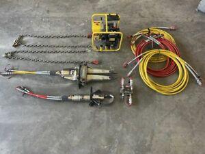 Weber Hydraulik Rettungssatz V330 S90L Rettungsschere Spreizer SP30LS Zylinder