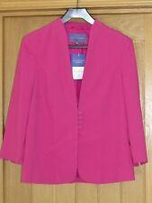 Autonomy Pink Crepe Jacket Size 8 Lined Fitted 3/4 Sleeve Cruise Wedding