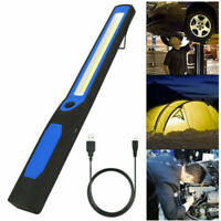 USB Rechargeable COB LED Magnetic Work Light Portable Garage Repair Lamp Torch