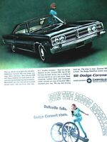 1966 Dodge Coronet 500 2 DOOR HT Original Print Ad 8.5 x 11""