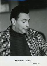 Le réalisateur Alexandre Astruc  Vintage silver print Tirage argentique  13x