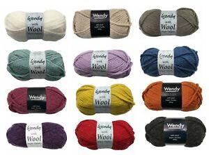 Wendy With Wool Super Chunky 100g Acrylic/Wool Blend Yarn Knitting Crochet Craft