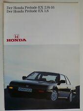 Prospekt Honda Prelude EX 1.8 / 2.0i-16, 1986, 16 Seiten