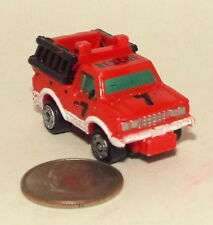 Small Micro Machine Datsun Fire Truck in Red number 7
