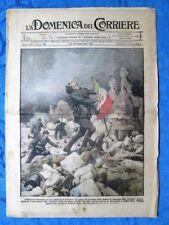 La Domenica del Corriere 30 settembre 1917 WW1 Franceschi - Fiamme Nere - Roma