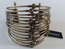 Antique Matte Brass $46 Nwt Premier Designs Slinkie Bracelet Wide