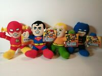 "New DC Comics Buddy 9"" Licensed Plush (Lot of 4) Stuffed Toys"