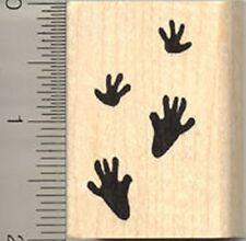 Rat Paw Prints Rubber Stamp, Mouse Tracks E5011 WM