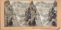 Port Da Venasque Luchon Francia Foto J.Andrieu Stereo Vintage Albumina c1868