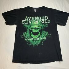 Avenged Sevenfold Black Concert T-shirt Medium Welcome To The Family Tour 2011