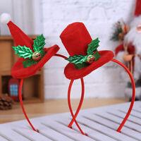 Christmas Hat Headband Xmas Hair Band Clasp Head Hoop for Xmas Party Kids Gif LD