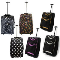 LIGHT WEIGHT WHEELED CABIN TRAVEL BAG SUITCASE HAND LUGGAGE TROLLEY AIRLINE SIZE