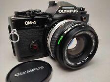 Olympus OM-4 SLR Kamera mit Zuiko Auto-S 50mm 1.8 Objektiv Spiegelreflexkamera