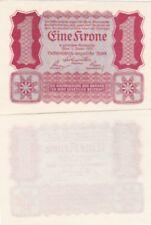 Austria banconota del 1922 1 corona FDS